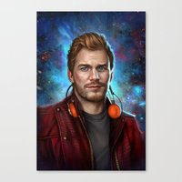 starlord Canvas Prints featuring Starlord by Fernanda Suarez