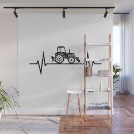 Tractor Heartbeat Farmer Farming Wall Mural