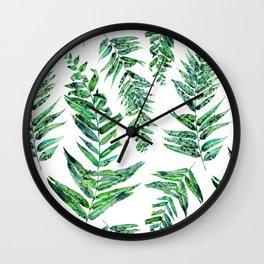 Jungle Ferns Wall Clock