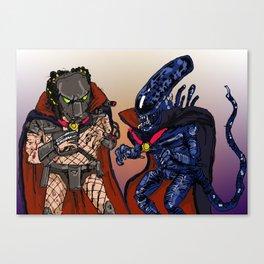 """Vampire Alien Vs. Vampire Predator"" (from Farts 'N' Crafts episode 7) Canvas Print"