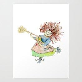 Gladys the Good Witch  Art Print