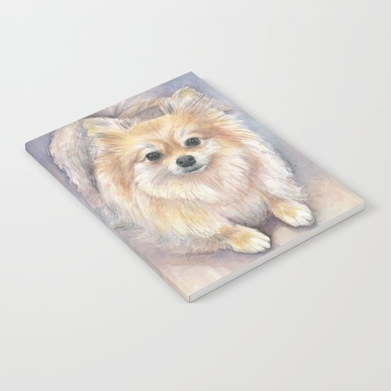 Pomeranian Watercolor Pom Painting Notebook