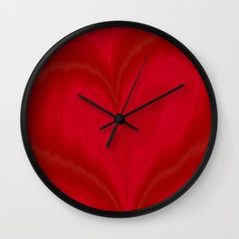 Valentine's Day Red Heart Pattern Wall Clock