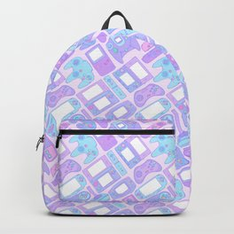 Video Game Controllers in Pastel Colors Backpack