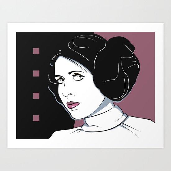 Princess Leia Pop Art Art Print