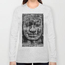 Cambodia. Angor Wat. Faces of Lokesvara Long Sleeve T-shirt