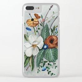 Moody Magnolia Arrangement Clear iPhone Case