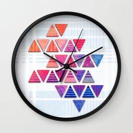 Triangular composition #3 Wall Clock