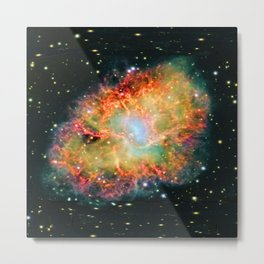 Messier 1 - Crab Nebula Posing for a Geode Design Metal Print