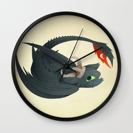night fury Wall Clock