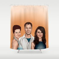 allison argent Shower Curtains featuring Argent Family Photo - San Francisco, 2010 by xKxDx
