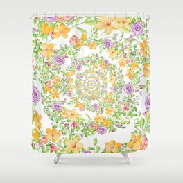 Floral Hypnosis Shower Curtain