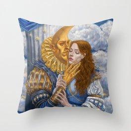 Moonman / soir de lune /  Throw Pillow