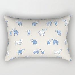 Goat Pajama Party Rectangular Pillow