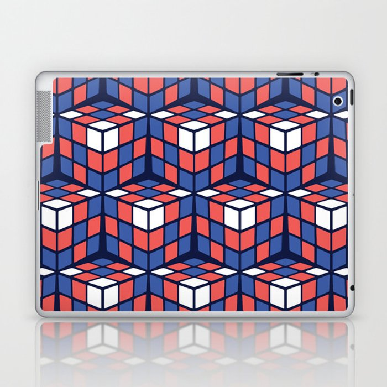 cascade - red/white/blue Laptop & iPad Skin