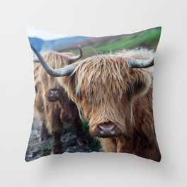 On the hills Throw Pillow