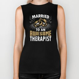 Married To An Awesome Therapist Biker Tank