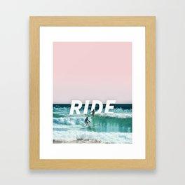 Ride The Waves Framed Art Print
