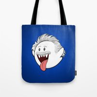 boob Tote Bags featuring Boo Einstein by Olechka