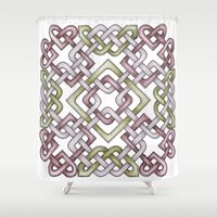 celtic Shower Curtains featuring Celtic Knotwork by Carrie at Dendryad Art