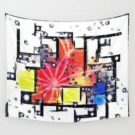 Mondrian's Dream Wall Tapestry
