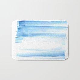 180527 Abstact Watercolor 25 Blue  Watercolor Brush Strokes Bath Mat