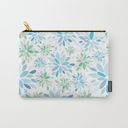 Nature's Healing Mandala Blue Carry-All Pouch
