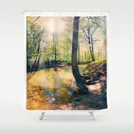 I Wish I Had A River I Could Sail Away On Shower Curtain