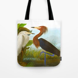 Purple Heron Tote Bag