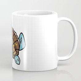 Cute sea turtle top view cartoon illustration motif set. Coffee Mug