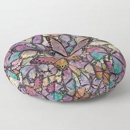 butterflies aflutter rosy pastels version Floor Pillow
