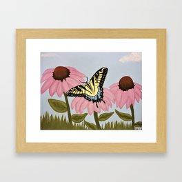 Swalowtail Butterfy on Purple Cone Flower Framed Art Print