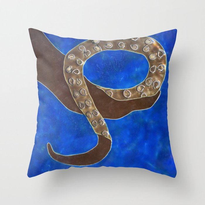 Creature of Water (the tentacle) Throw Pillow