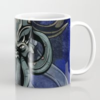 kraken Mugs featuring Kraken by Spooky Dooky