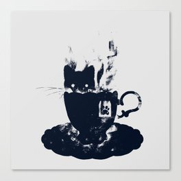 Having Tea With my Lovely Cat Canvas Print