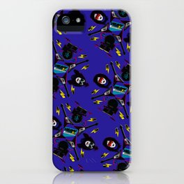 pop pattern_heavy metal iPhone Case