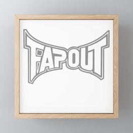 Fap Out Framed Mini Art Print