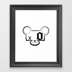 Bear Head Framed Art Print