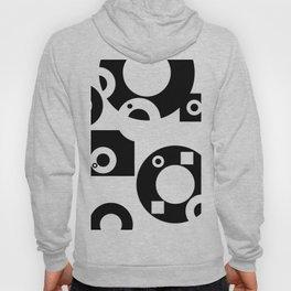 Black& White Rings Rectangle Hoody