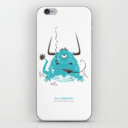 D is for Dragon iPhone Skin
