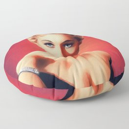 Kim Novak, Vintage Actress Floor Pillow