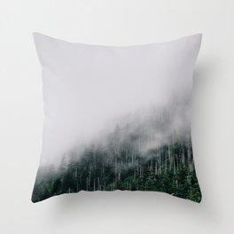 Misty Great Smoky National Park  Throw Pillow