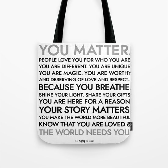 You Matter Poster by thehappyproject