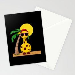 Strandgiraffe - die coole gechillte Giraffe witzige lustiges Stationery Cards