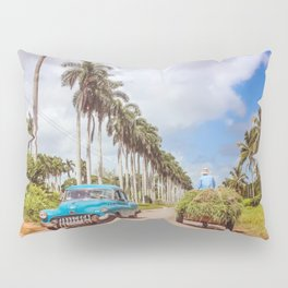 Cuba Old & New; Vintage Car & Farmer Pillow Sham