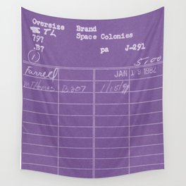 Library Card 797 Negative Purple Wall Tapestry