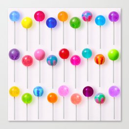 Lollipop Rainbow Canvas Print