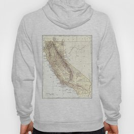 Vintage Map of California (1878)  Hoody