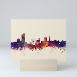 Sheffield England Skyline Mini Art Print