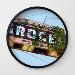COOL VINTAGE GROCERY SIGN Wall Clock